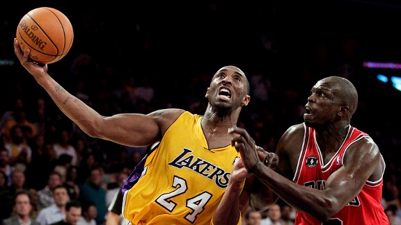 Luol Deng and Kobe Bryant