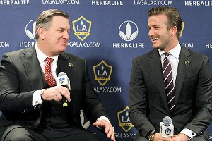 Tim Leiweke and David Beckham