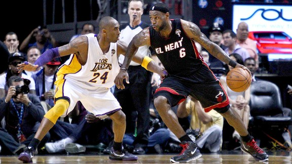 Kobe Bryant and LeBron James