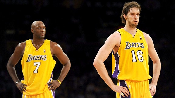 Pau Gasol and Lamar Odom 