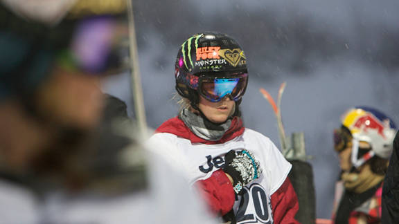 Burke, shown here at Winter X Games 13, had legendary focus.