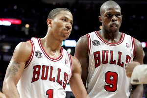 Derrick Rose and Luol Deng
