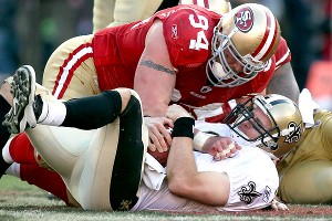 Justin Smith and Drew Brees