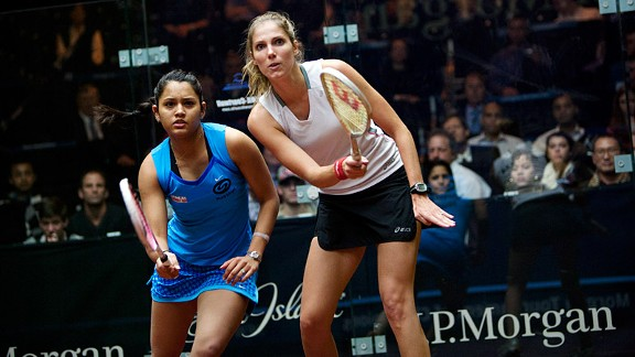 On the way home from work, commuters can check out world-class players such as Dipika Pallikal of India and Jaclyn Hawkes of New Zealand.