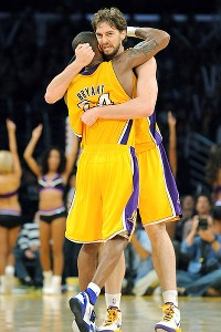 Pau Gasol and Kobe Bryant