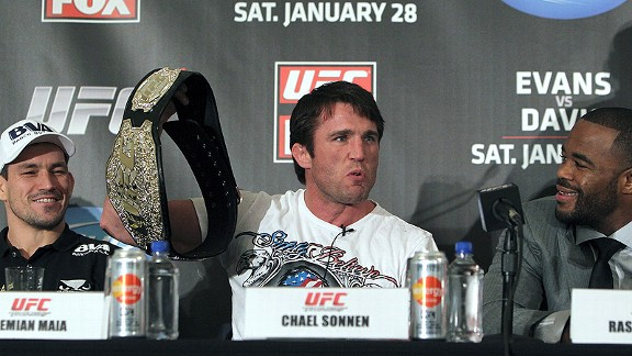 Chael Sonnen, Demian Maia and Rashad Evans