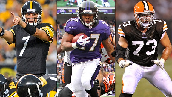 Ben Roethlisberger/Ray Rice/Joe Thomas