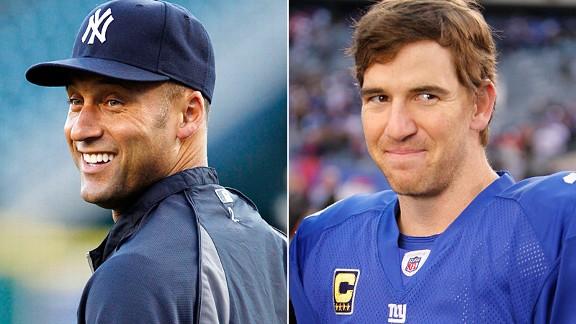 Derek Jeter and Eli Manning