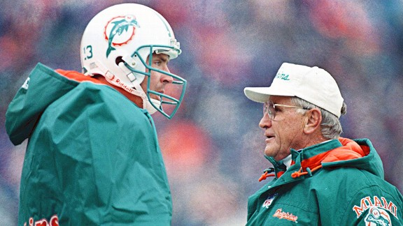 Dan Marino and Don Shula