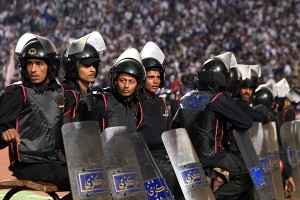 Egyptian riot police