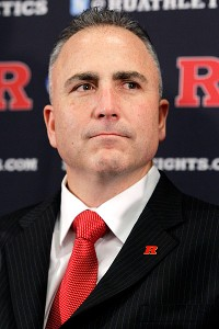 Rutgers football coach Kyle Flood