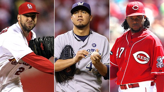 Chris Carpenter, Yovani Gallardo & Johnny Cueto