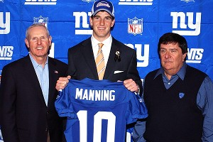Tom Coughlin, Eli Manning & Ernie Accorsi
