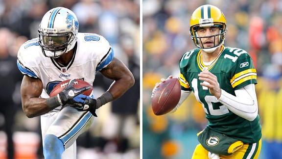 Calvin Johnson and Aaron Rodgers