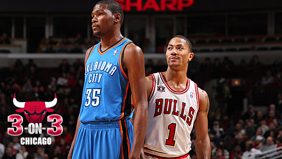Kevin Durant and Derrick Rose
