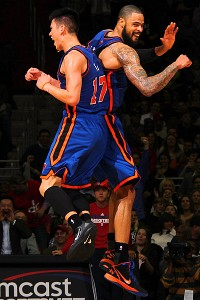 Jeremy Lin and Tyson Chandler