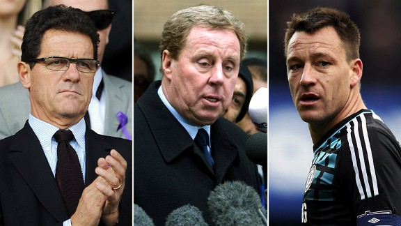 Fabio Capello, Harry Redknapp, John Terry