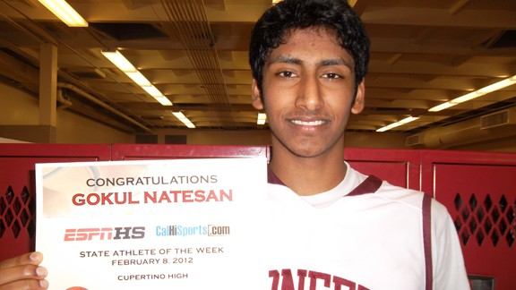 Gokul Natesan, Cupertino high school