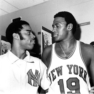 Walt Frazier and Willis Reed