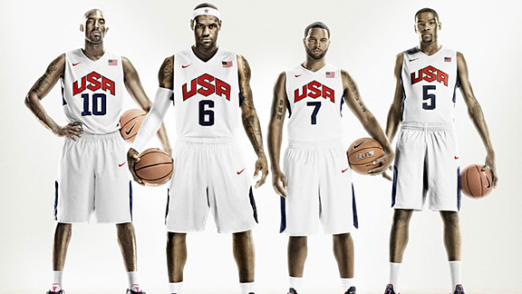 Team USA Nike uniforms