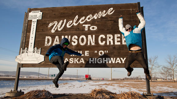 Todd Ligare and Griffin Post make their way north via the Alaska-Canada Highway.