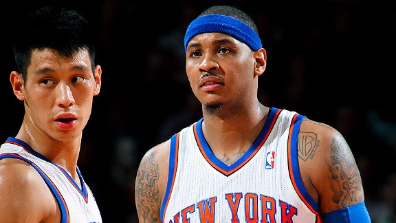 Jeremy Lin and Carmelo Anthony