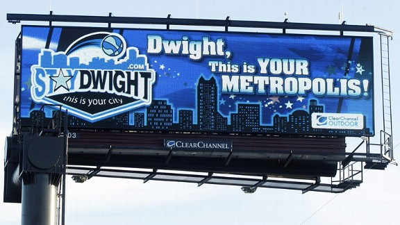 Ryan Totka, the man behind the StayDwight campaign, has purchased four billboards around Orlando asking Dwight Howard to stay with the Magic.
