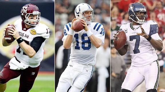 Ryan Tannehill, Peyton Manning, Tarvaris Jackson