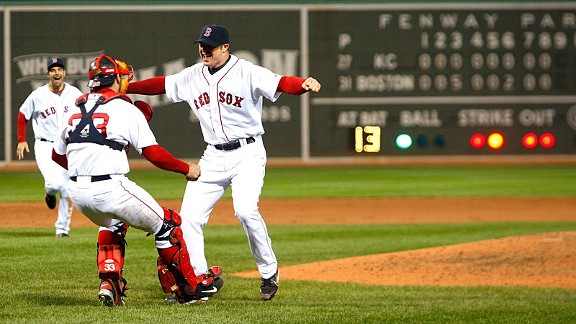 Jason Varitek and Jon Lester