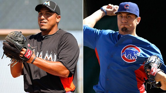 Carlos Zambrano and Matt Garza
