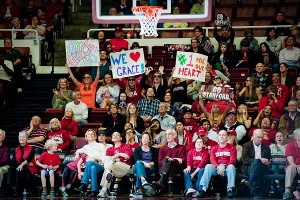 The fans at Maples have a soft spot for Grace Mashore; when she hit a 3-pointer on Senior Day, they erupted.