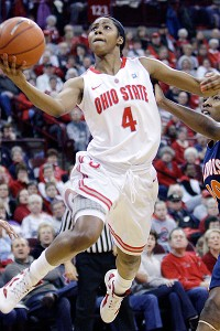Ohio State guard Tayler Hill led the Big Ten in scoring this season.