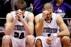 Northwestern's John Shurna and Drew Crawford