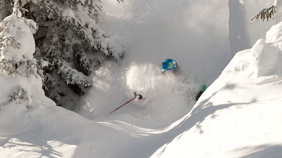 A recent powder day at Stowe, Vt.