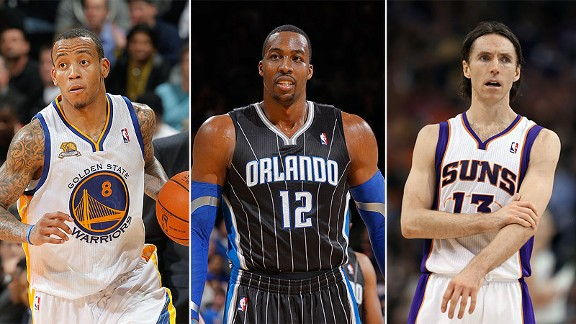 Monta Ellis, Dwight Howard and Steve Nash