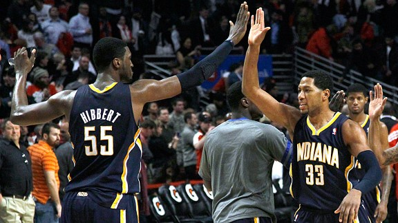 Roy Hibbert and Danny Granger