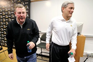 Greg Davis and Kirk Ferentz