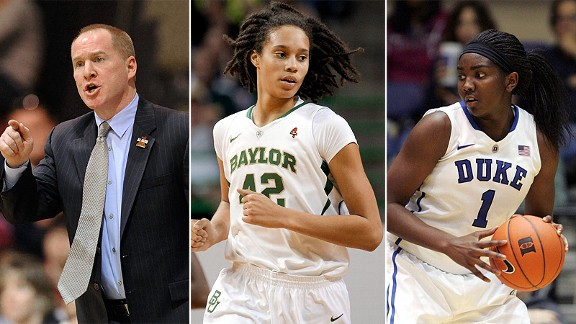 Jim Crowley, Brittney Griner and Elizabeth Williams