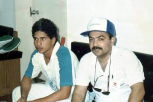 Atul Huckoo and Sachin Tendulkar