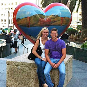 Jessica Hardy with fiance and Swiss Olympic swimmer Dominik Meichtry.