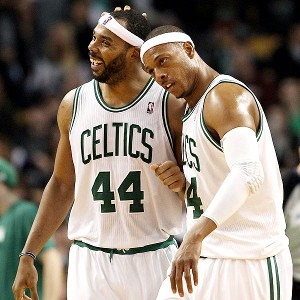 Paul Pierce and Chris Wilcox