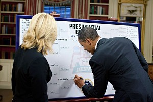 Doris Burke and President Obama