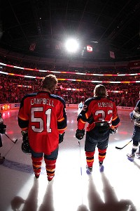 Brian Campbell and Kris Versteeg