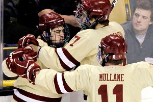 Boston College hockey celebrates