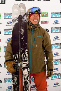 Silas Chickering-Ayers won his first FWT contest this weekend at Snowbird.