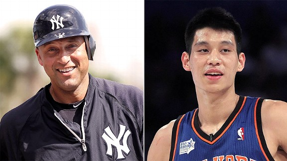 Derek Jeter and Jeremy Lin
