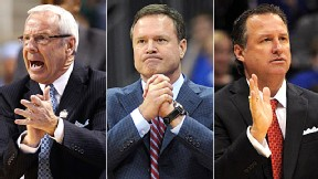 Roy Williams, Bill Self and Mark Gottfried