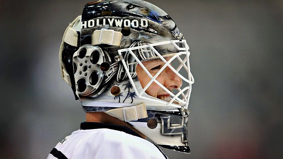 Jonathan Bernier of the Los Angeles Kings