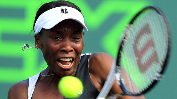 Venus Williams won her first singles match of 2012 on Wednesday at the Sony Ericcson.