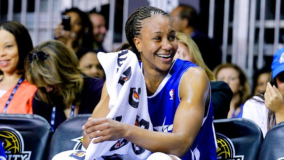 Tamika Catchings has had plenty of chances to play against the guys during the WNBA offseason, including at the NBA All-Star celebrity game.